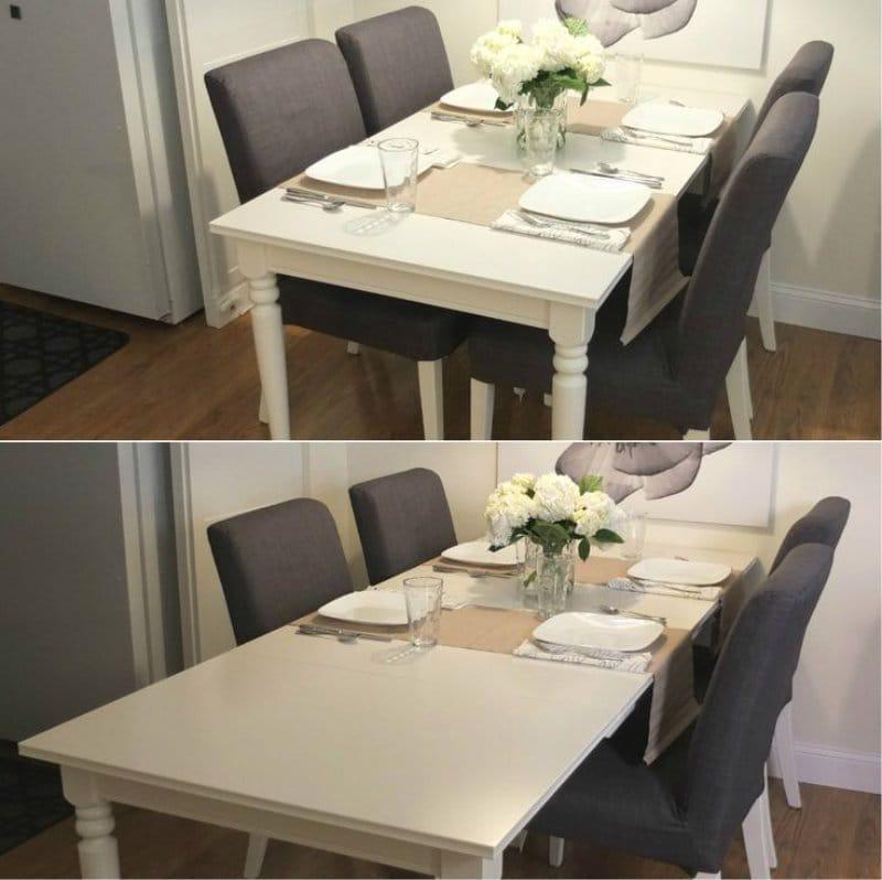 โต๊ะอาหารบานเลื่อน IKEA INGATORP