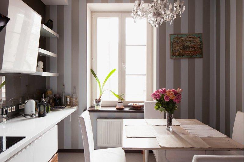 Retro juliste keittiön sisätiloissa