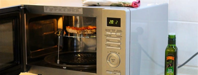 תנור מיקרוגל עם גריל כפול