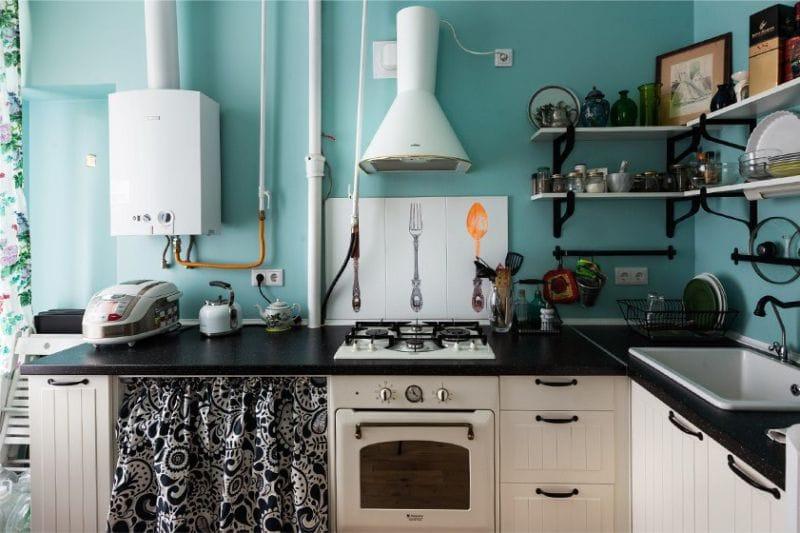 Tekniikka retro-tyyliin keittiön sisustuksessa Provencen tyyliin