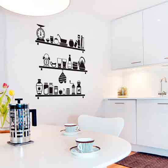 Vinyylitarrat keittiön sisätiloissa
