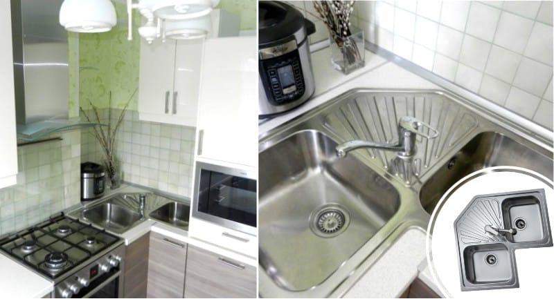 Sarok két darab mosogató