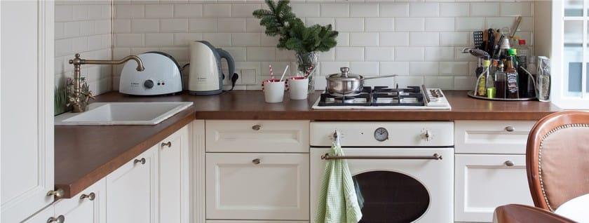 לבן תנור גז בסגנון רטרו