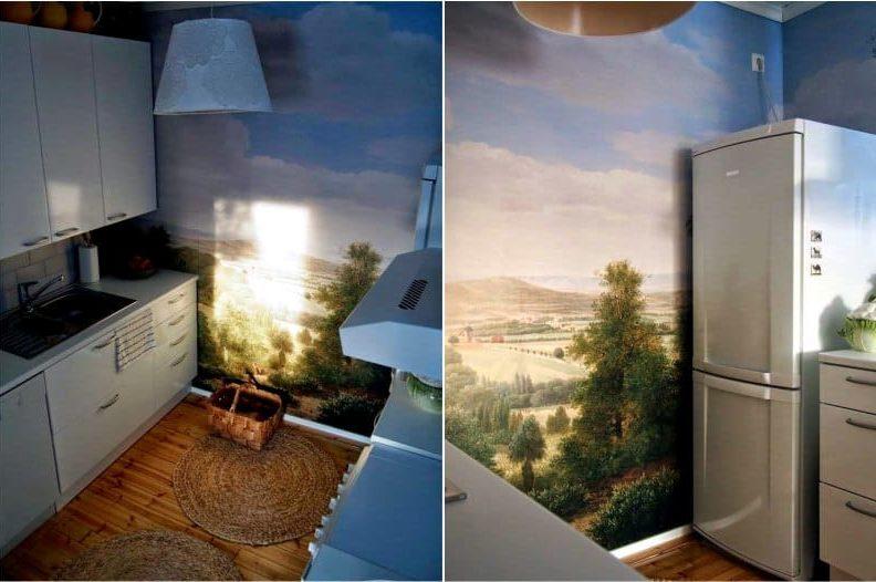 Photowall-paperi, jossa maisema sisätiloissa