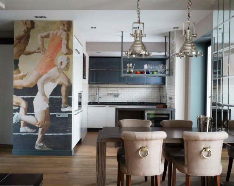 Photowall-paperi keittiön sisätiloissa