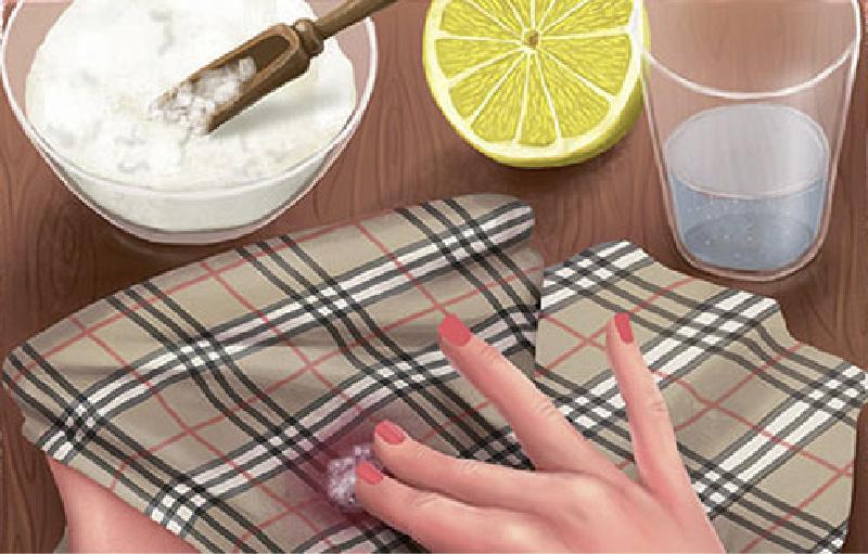 חומצת לימון נגד כתמים