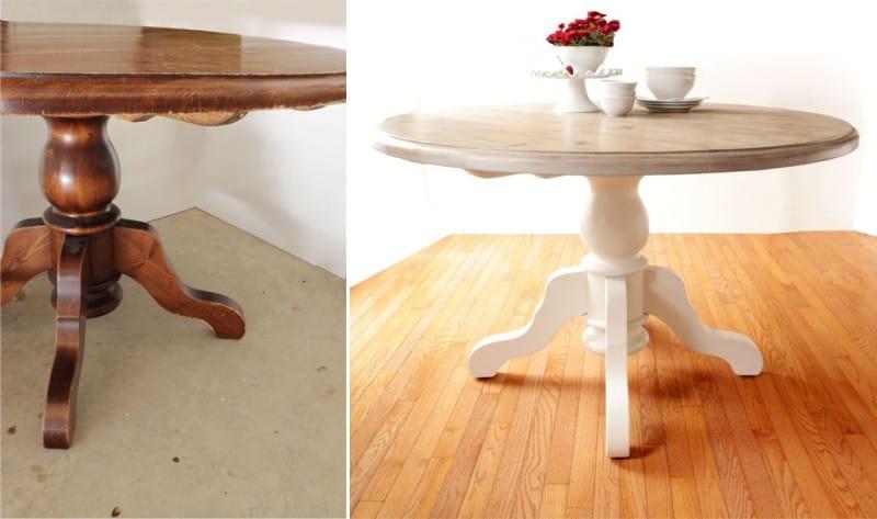 Buat-ubah sendiri meja di dalam warna oak yang berkotak