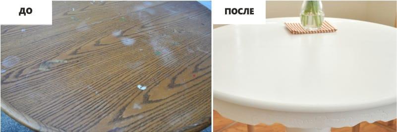 Pemulihan meja dengan tangan mereka sendiri - sebelum dan selepas