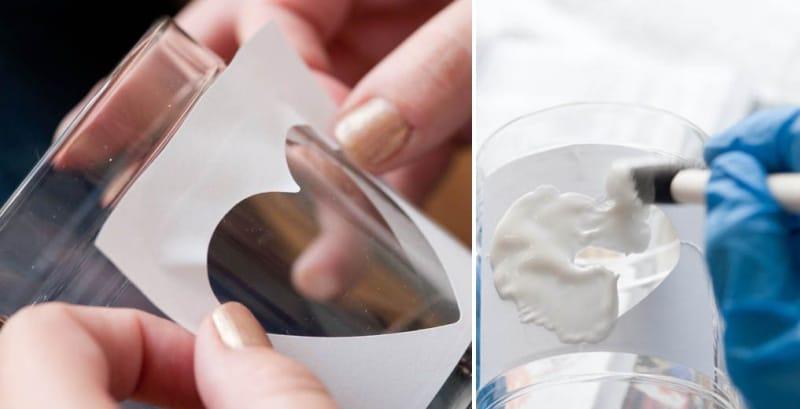 צביעת משקפיים באמצעות סטנסיל תוצרת בית