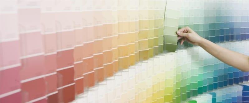 הבחירה של צבע waterborne