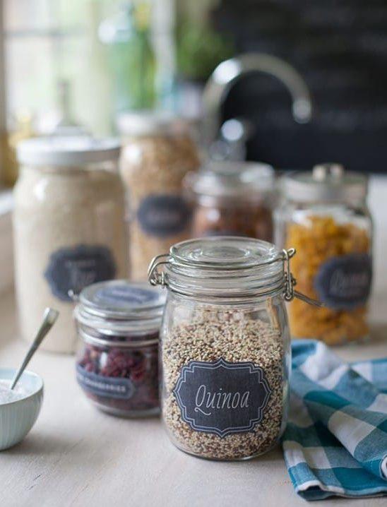 Üvegek fűszerek és ömlesztett termékek tárolására