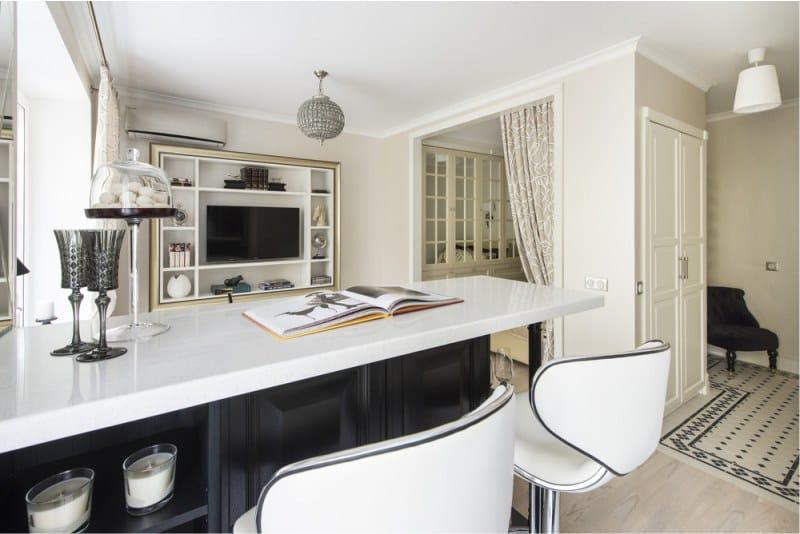 Art Deco musta keittiö