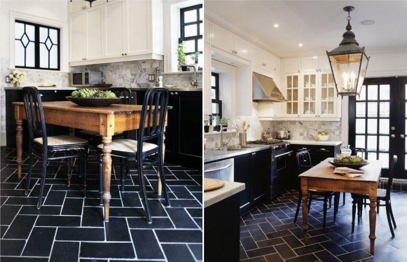 Klassinen mustavalkoinen keittiö