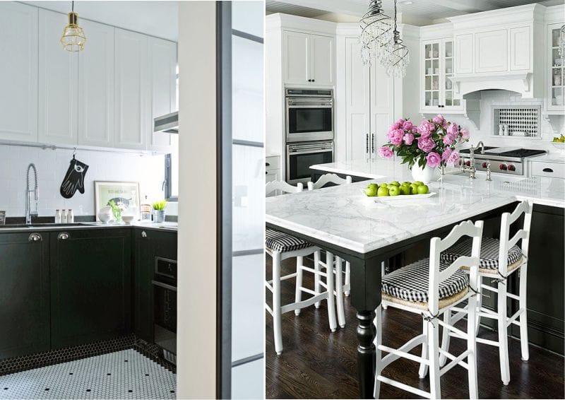Musta ja valkoinen keittiö