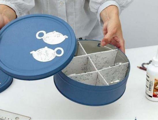 Dekorációs dobozok tea tárolásához csináld magad