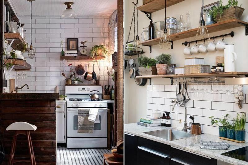Avental porco no interior da cozinha industrial, sotão e país