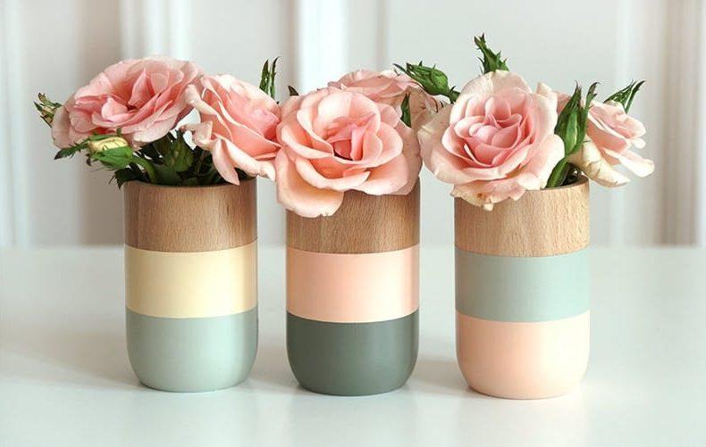 Ötletek a fa vázák festésére