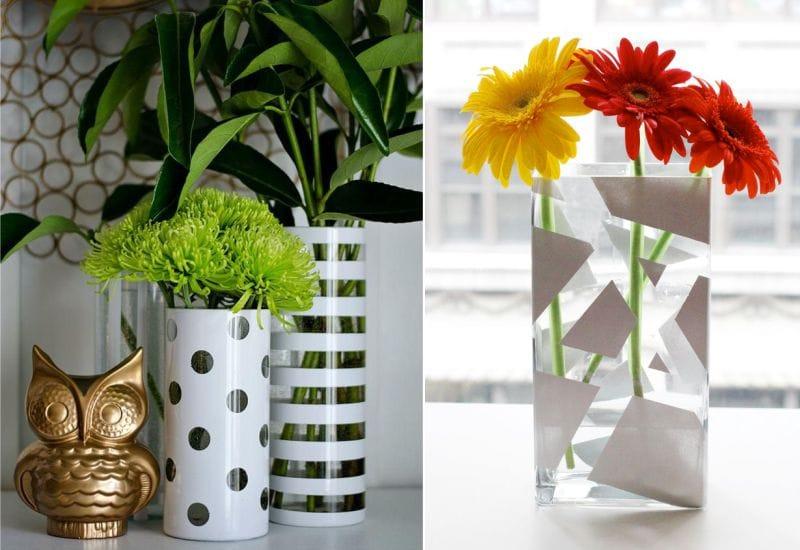 Ötletek üveg vázák festésére
