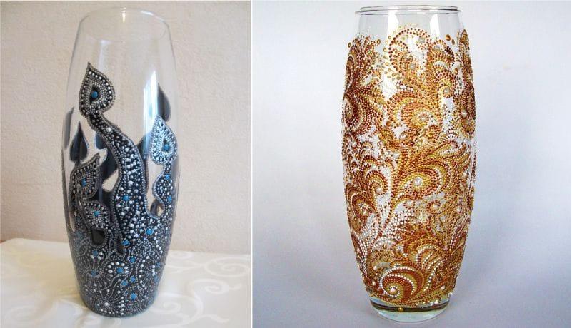 רעיונות במקום ציור אגרטל זכוכית