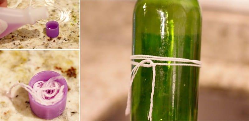 איך לקצץ בקבוק זכוכית