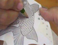 כיצד להעביר את התמונה על האגרטל לציור עתידי