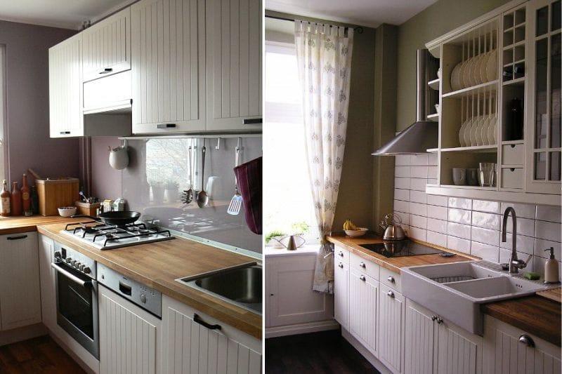 Ikea Faktum Stot konyhája egy vidéki stílusú konyhabelsőben