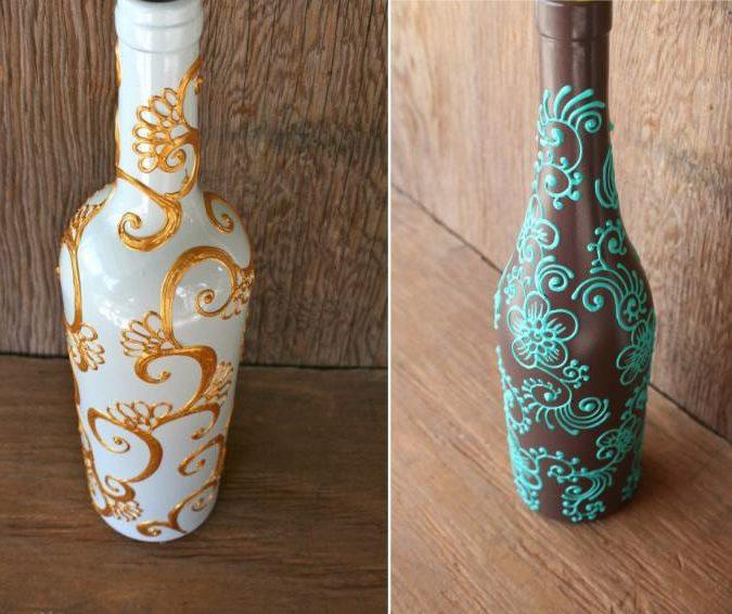 צביעת קווי בקבוקים