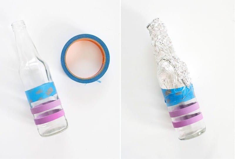 ציור DIY של בקבוקים