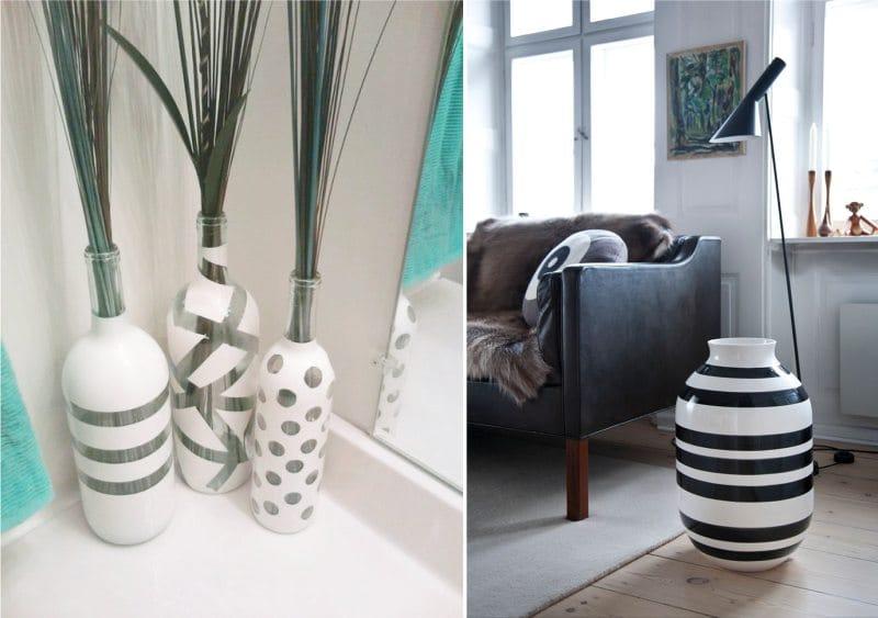 Festett padló vázák