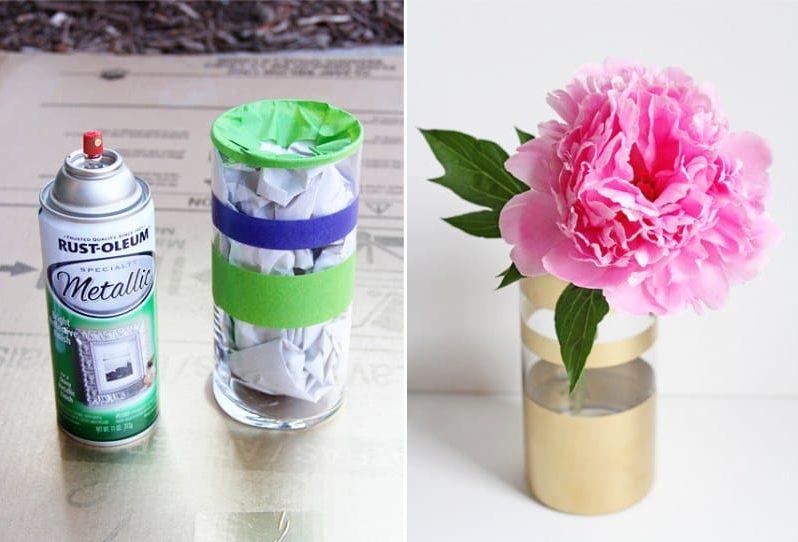 A saját virágvázaink festése