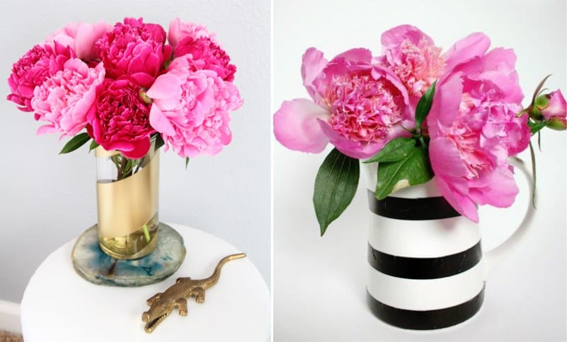 Üveg és kerámia váza festése