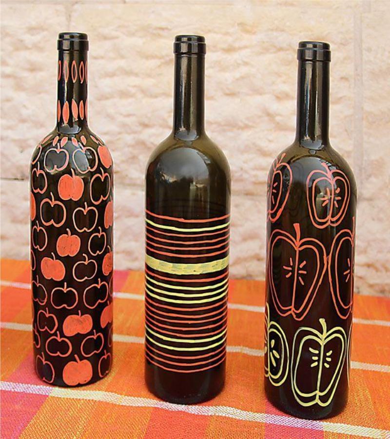 ציור בקבוק יין