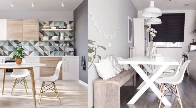 קירות אפורים במטבח