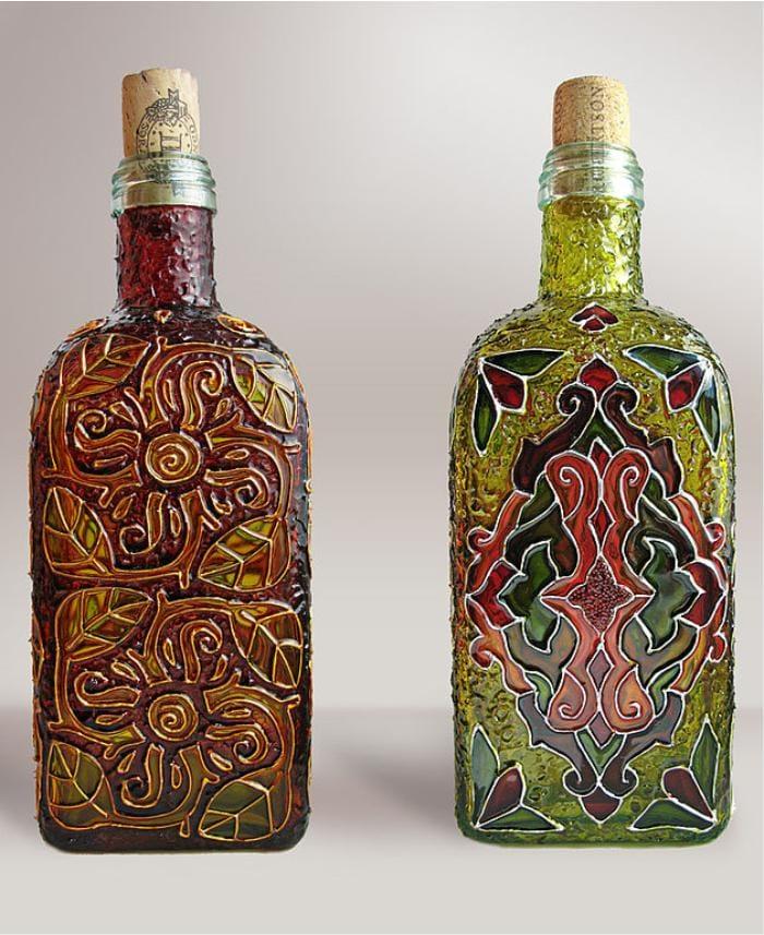 ויטראז 'זכוכית של בקבוקים