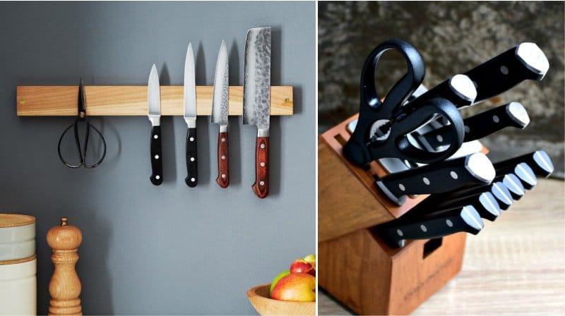 Rangement des couteaux