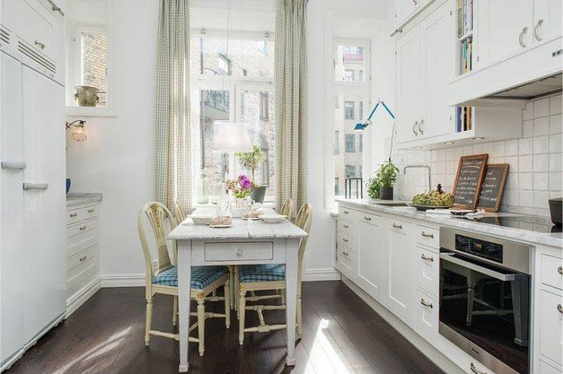 Zöld és kék a konyha belsejében