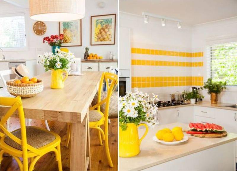 Gulvitt kjøkken i landlig stil