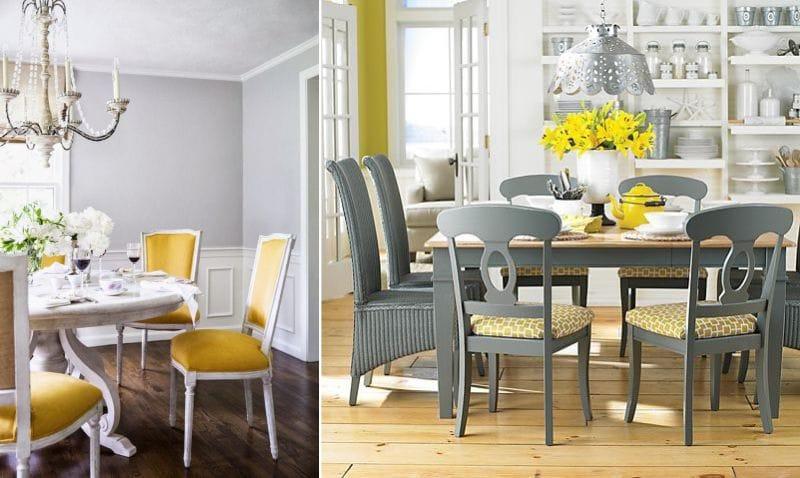 Klassisk gul spisesal