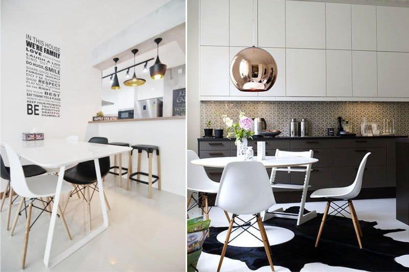 Kultainen ja musta keittiön sisätiloissa