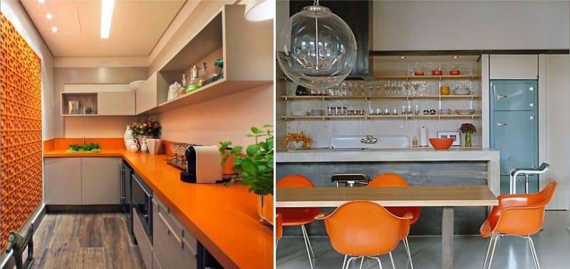 Bézs-narancs konyha