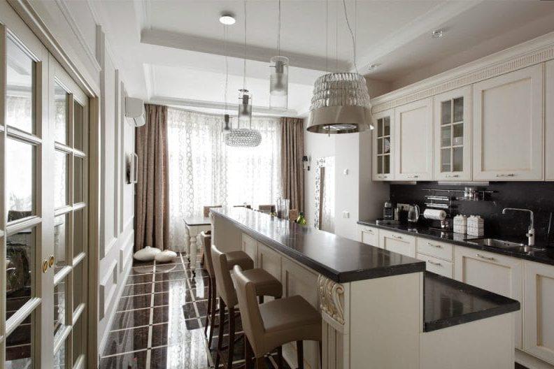 Art Deco-Brown bézs konyha