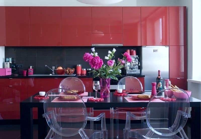 Piros konyha a déli oldalon