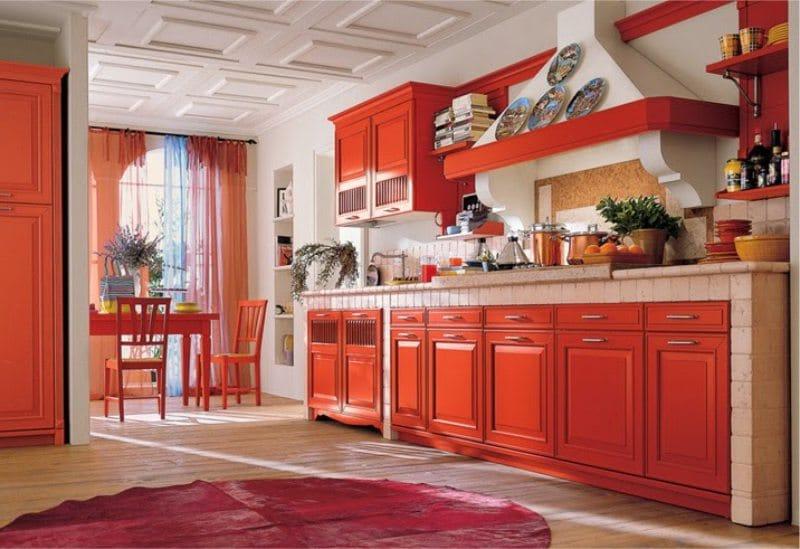 Klasszikus piros konyha