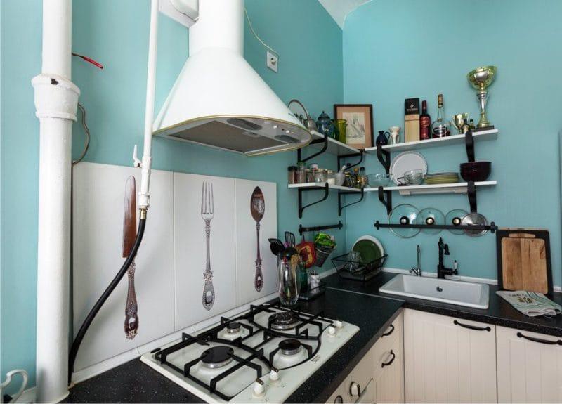 ห้องครัวที่ไม่มีตู้ในสไตล์โพรวอง