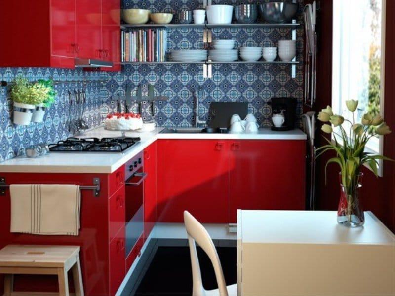 Kék piros konyha
