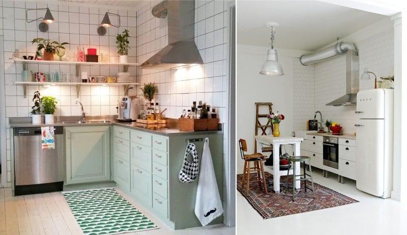 Hood légcsatornával az egyszintes konyhában