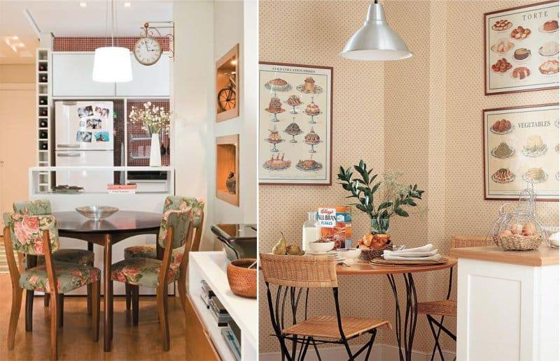 העיצוב של פינת האוכל בפנים של זיוף בסגנון של בית קפה