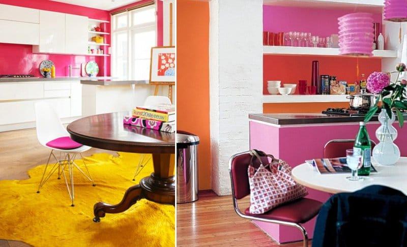 Rózsaszín konyha pop art stílusban