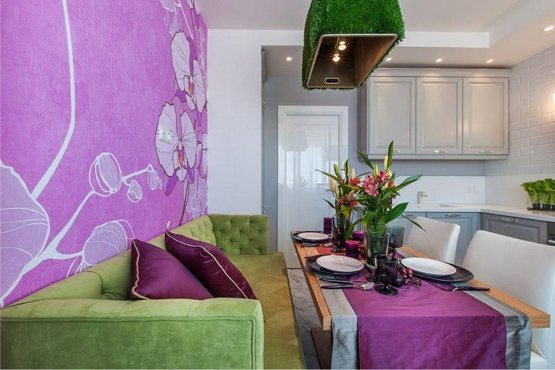 פוקסיה הקיר מבטא במטבח פנים