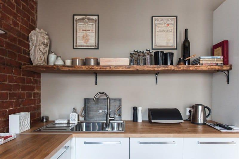 Cuisine design de couleur dans le style du loft